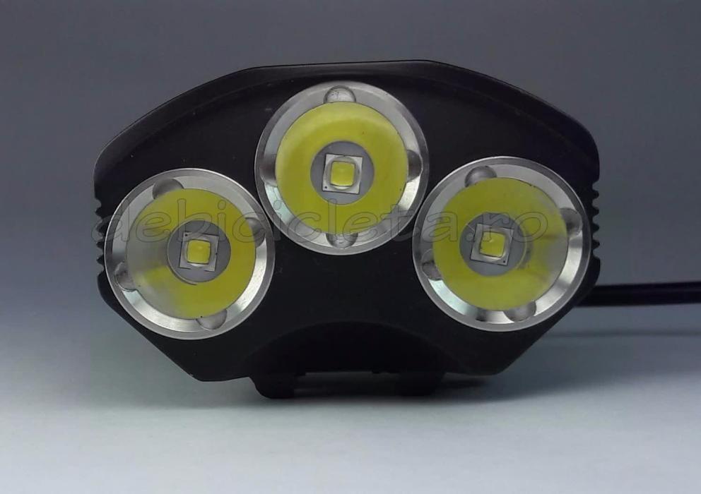 Far lanterna bicicleta CREE XM L 3T6 3800Lumeni LED comanda lux