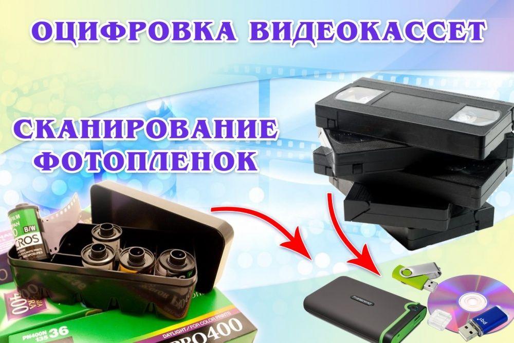 Сканирование фотопленок и оцифровка видеокассет