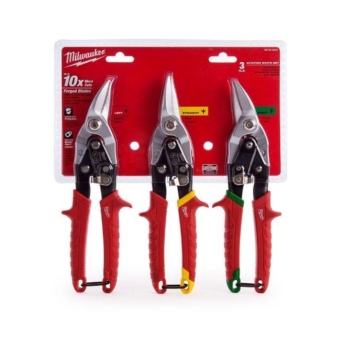 Комплект ножици за ламарина права,лява,дясна Milwaukee