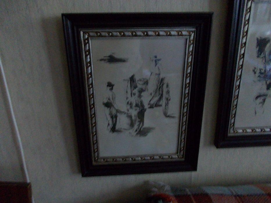 2 tablouri vechi Jean Paul Brusset Franta 1937