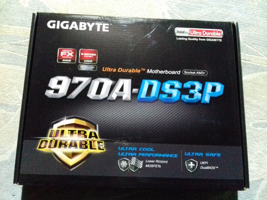 Placa de baza GIGABYTE GA-970A-DS3P, soket am3+ sigilata noua