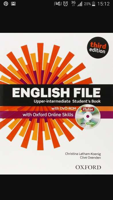 English file upper-intermediate student's & work book third edition