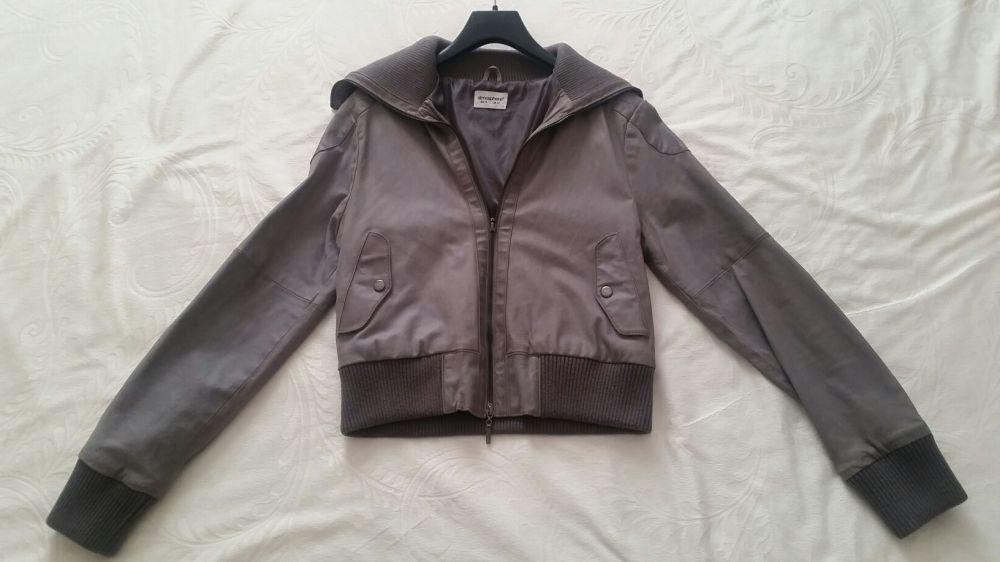 Дамско сиво яке от естествена кожа на Atmosphere - UK14 / Eur 42
