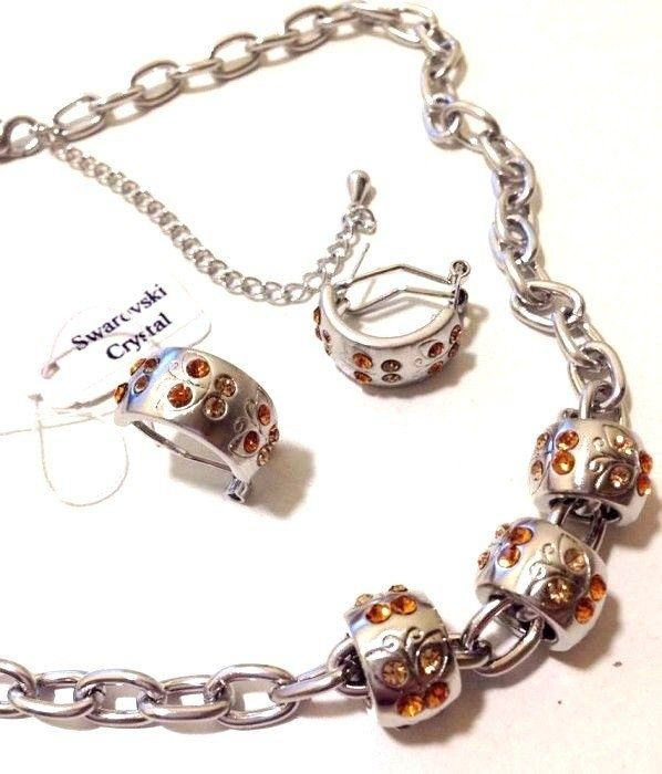 Set bijuterii dama-gama Pandora placat cu aur 18k si swarovski