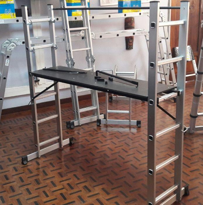 Escadas de alumínio de alta qualidade tipo andaime modelo KMH 0506