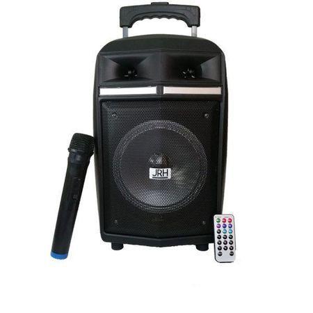 Boxa Portabila cu BT, FM, USB, inclus MIC si Telecomanda JRH A83