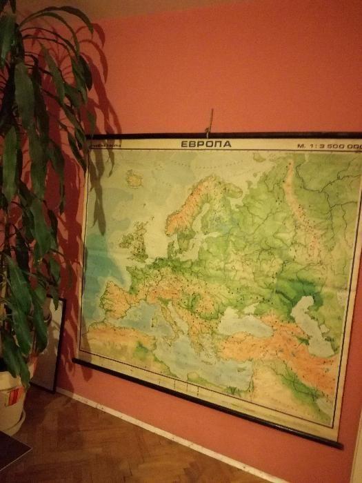 Карта на Европа