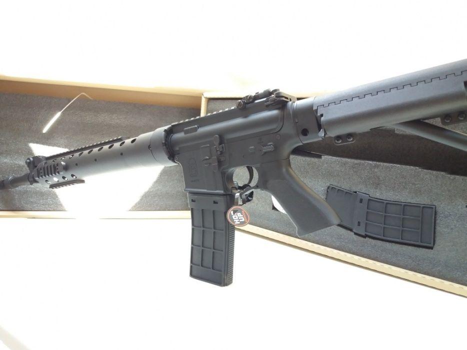 Arma airsoft PUSCA M4 METAL cu modificari interne ( DMR ak47 sniper)