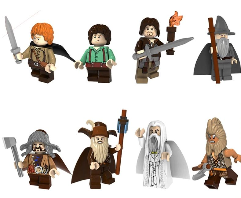 Set 8 Minifigurine noi tip Lego Lord of the Rings pack4