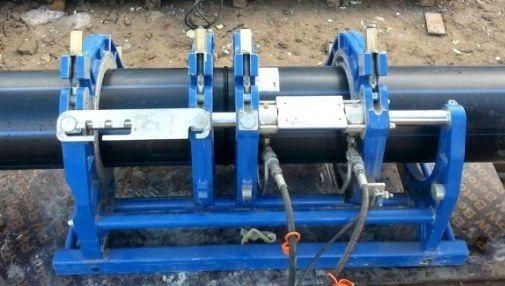 Услуги стыковой сварки полиэтиленовых труб диаметром до 630 мм.