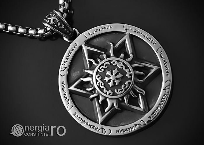 Pandantiv Amuleta Steaua Scutul lui David INOX - PND050b