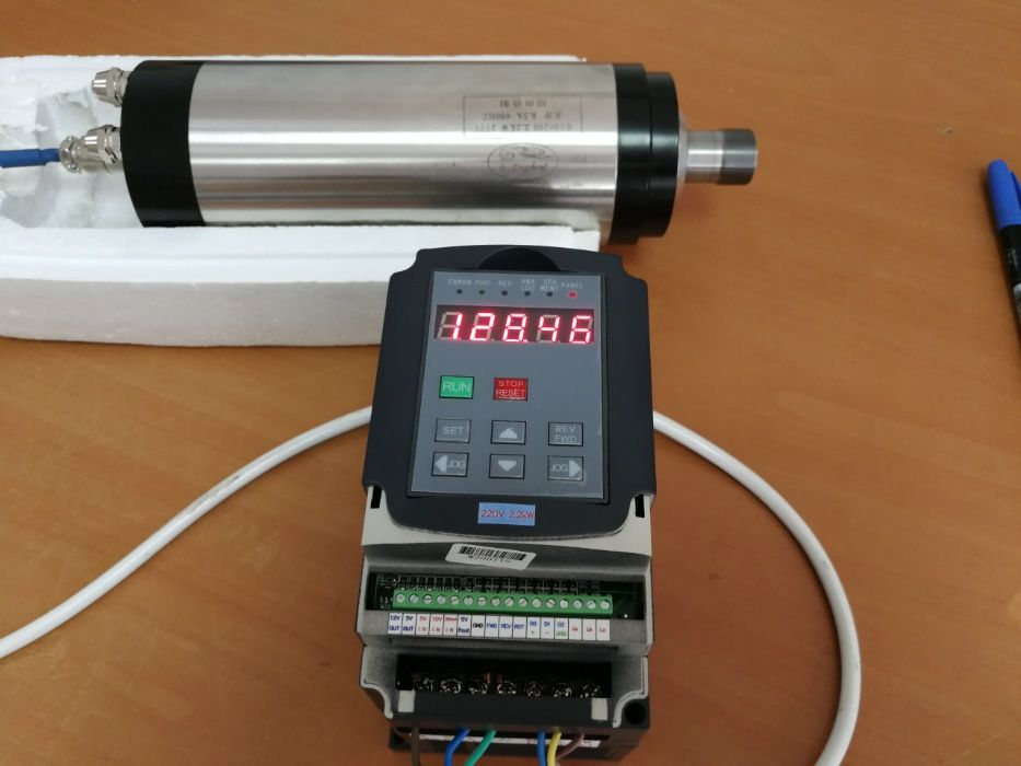 Kit Invertor/Motor Freza 2.2 KW, Router CNC Frezare/Gravare, noi!