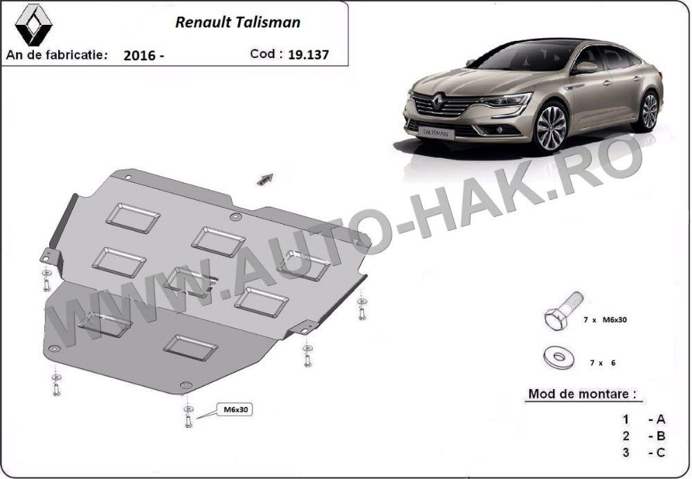Scut motor metalic Renault Talisman 2016-prezent - otel 2mm
