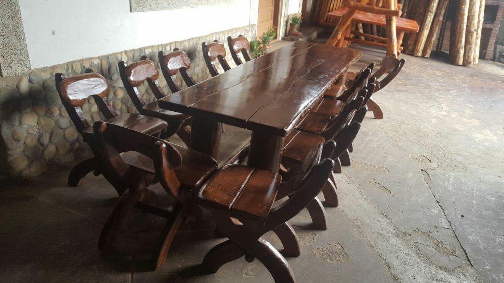 Masa din lemn masiv - Casa Padurarului -