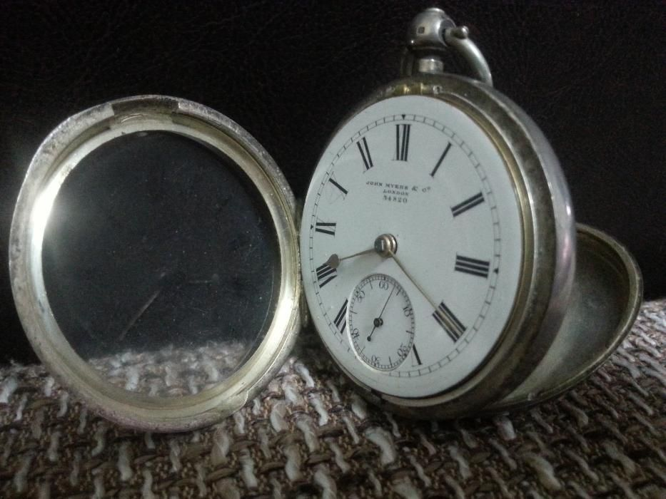Ceas de buzunar argint Marea Britanie an 1892