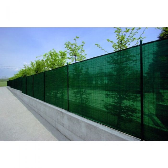 Plasa verde pentru gard / umbrire 2x25 m grad de umbrire