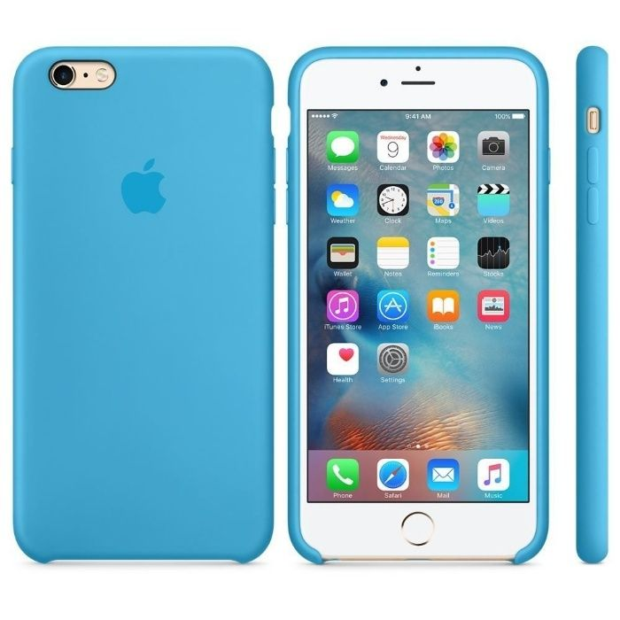 iPhone 6 S Plus Carcasa Silicon Originala Albastra