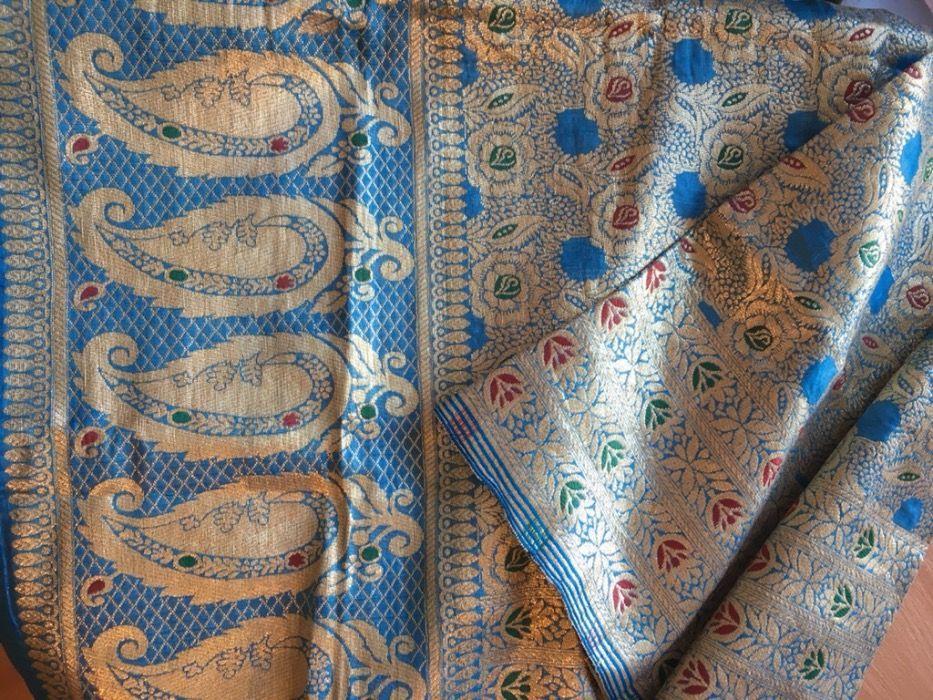Ткань из Ирана (отрез 2м.)золоченная парча