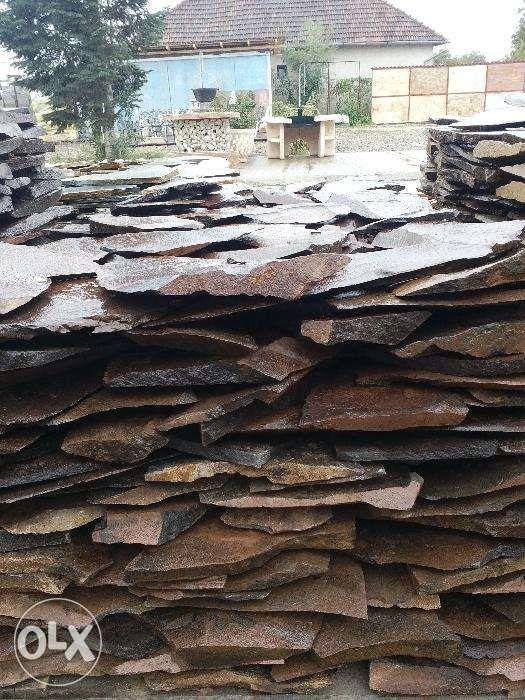 Piatra naturala cioplita si taiata pentru constructii si decoratiuni