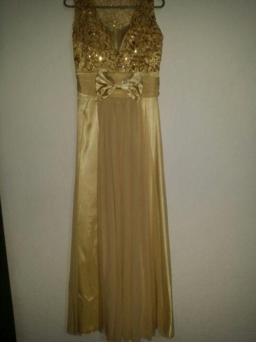 Официална рокля златисто