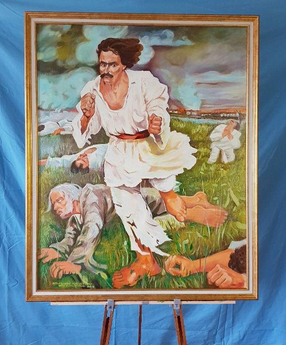 Pictura, Tablou in ulei cu rama, rascoala 100x80