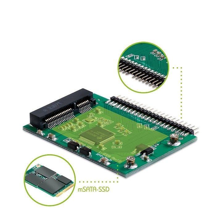 Adaptor convertor SSD mSATA la IDE 44 pini 5V pentru laptop
