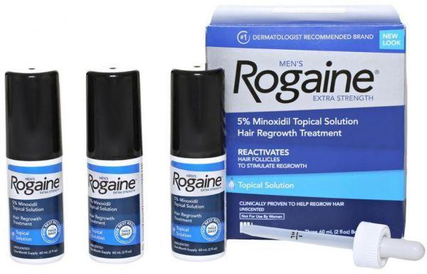 Rogaine Solutie Extra Strength Minoxidil 5% - 3 LUNI - pipeta inclusa