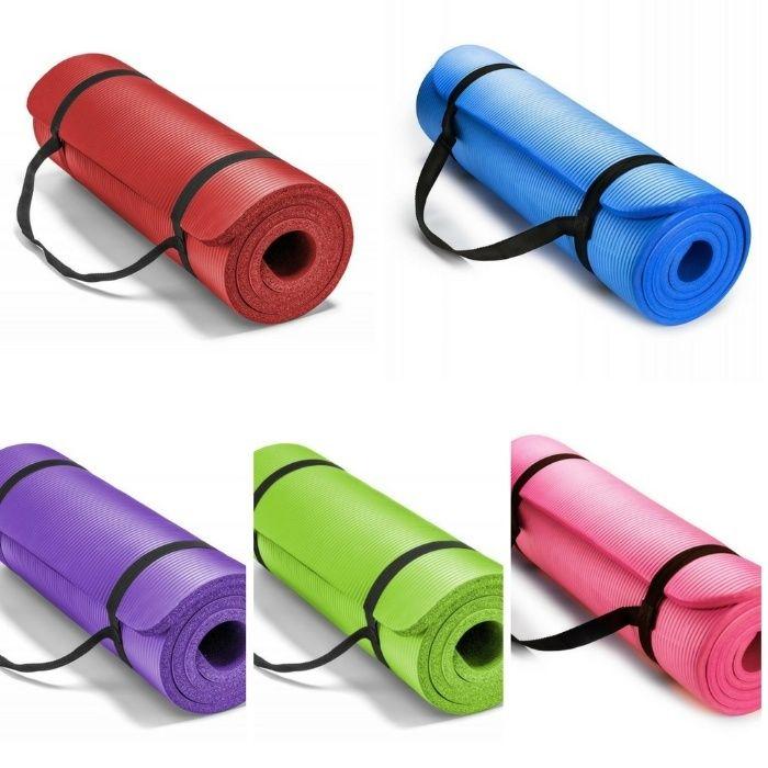 Постелка за йога, гимнастика, фитнес и упражнения NBR, Eco-Friendly