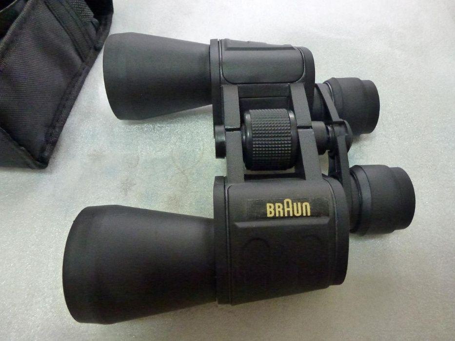Binoclu Braun 9x50,nou,calitate,accesorii,pretfix,ramburspostaromana