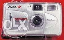 Aparat fotografiat AGFA cu film, funcam Slimline, autowinding, blitz