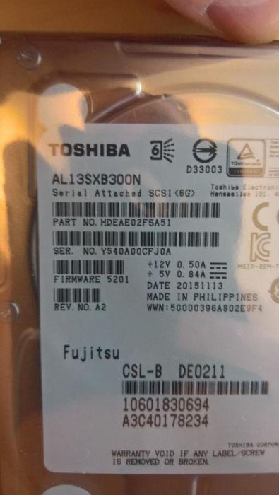 """Fujitsu HDD SAS 6G 300GB 15K HOT PL 2.5"""" nou sigilat"""