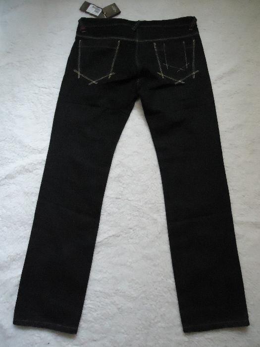 Blugi negri barbati made in Italy regular drepti blue jeans