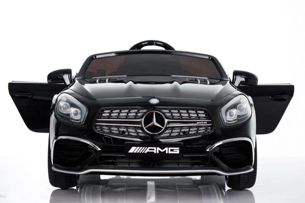 Акумулаторна кола Mercedes SL65 с MP4/дисплей12V с меки гуми