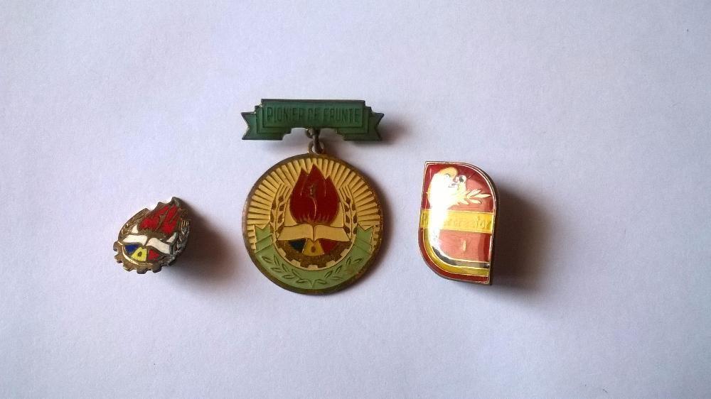 Set 3 insigne Pionier Merituos