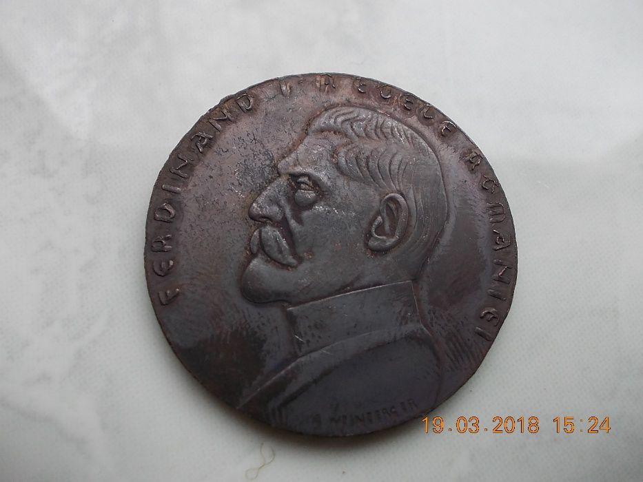 Moneda medalie Ferdinand I Regele Romaniei