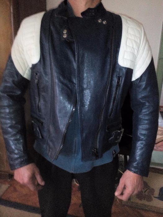 Мoto комплект яке и панталон естествена кожа