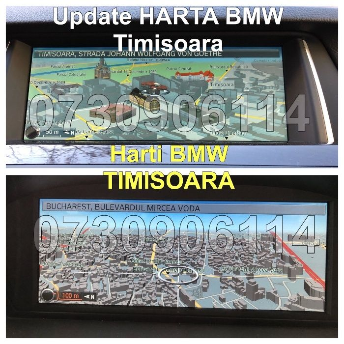 BMW Update Harti 2018 Navigatie Seria F10 F30 F32 F07 F12 F01 F16 F15