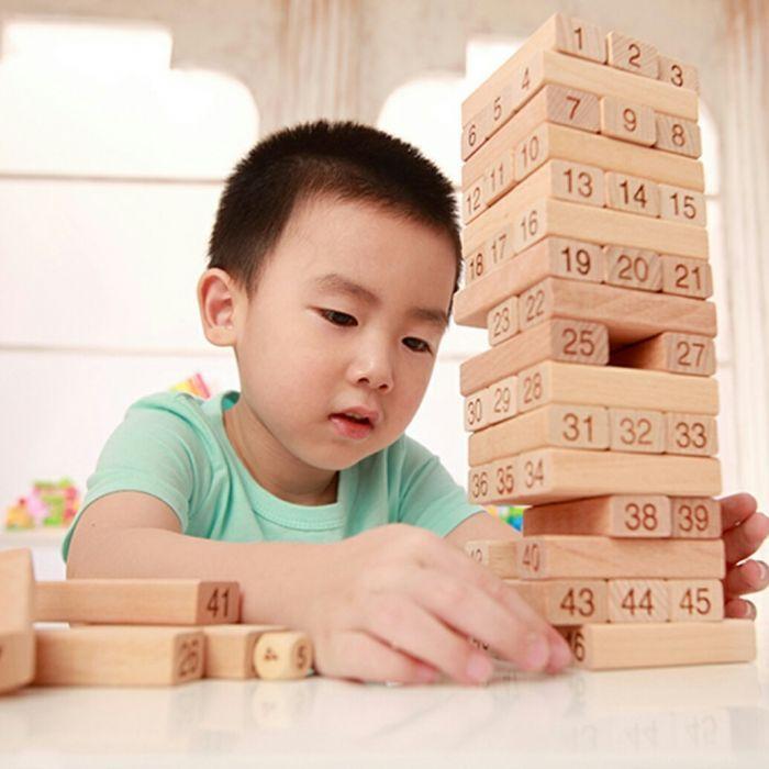 Настольная игра Дженга, 54 деревянных блока.