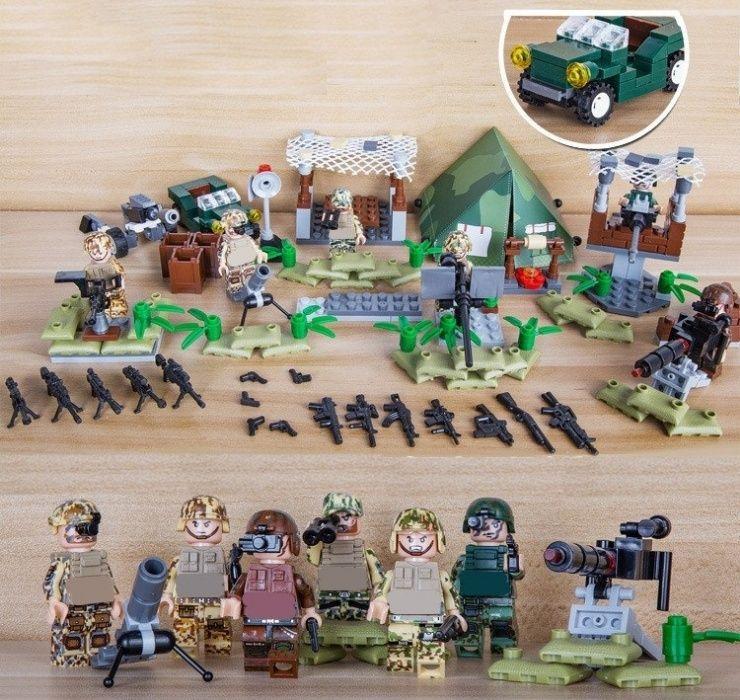 Set 6 Minifigurine noi tip Lego Island Guard Marine SWAT