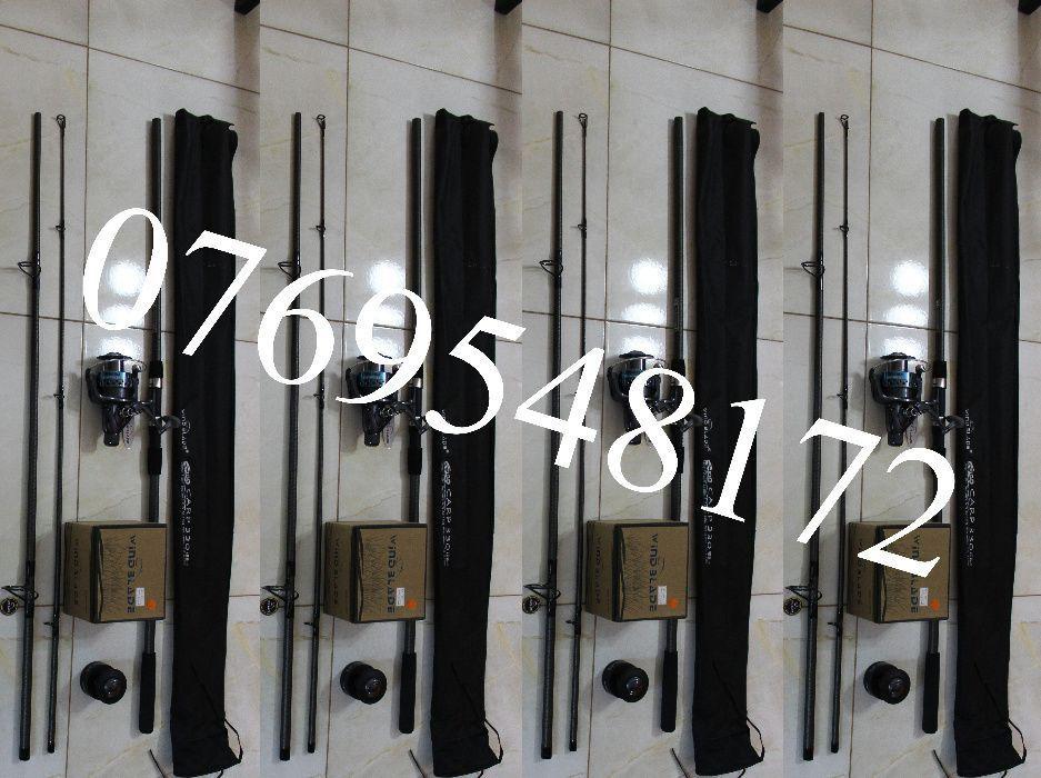 Set 4 Lansete Fino Carp Wind Blade 3.75 Lb + 4 Mulinete G3 60RM 6 Rul