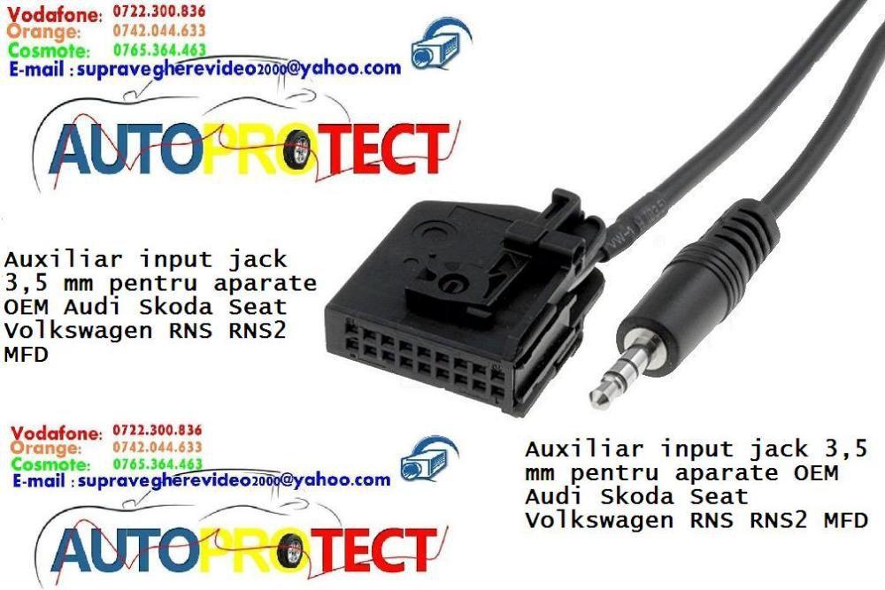 Adaptor AUX input jack 3,5 mm MFD2 radio OEM Audi Skoda Seat VW RNS