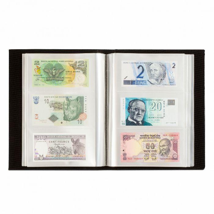 Албум за 300 банкноти с 100 броя двойнопрозрачни листи Leuchtturm -чер