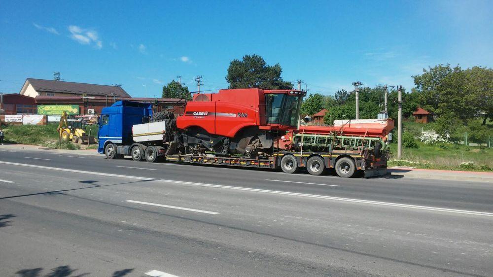 Transport utilaje, combine ,agabaritic cu trailer pana la70 to