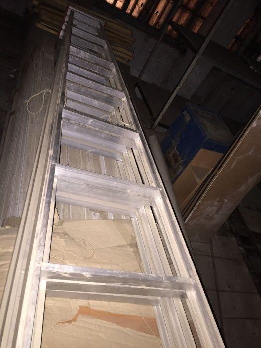 Стремянка - лестница 4м. раздвижная дюралевая