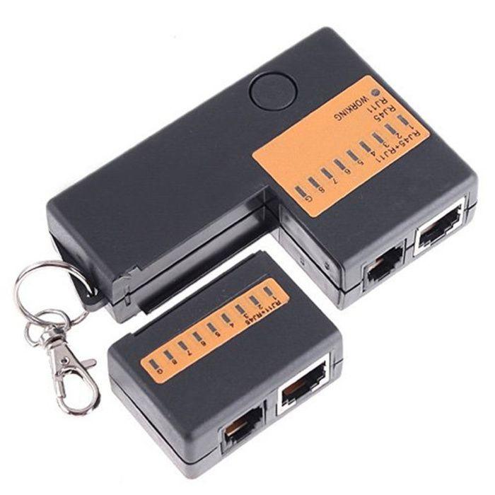 aparat tester cablu retea telefon rj45 network lan cu leduri