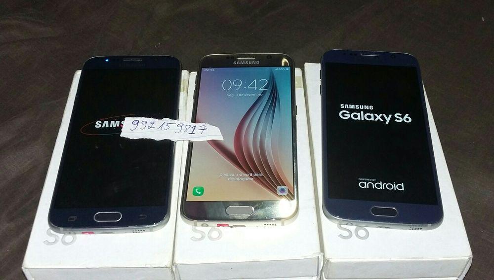Samsung galaxy S6flat original Cor Azul escuro e Dourado