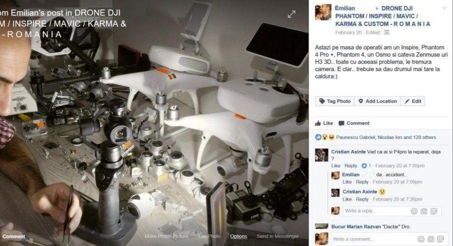 Reparatii Service Drone DJI Phantom 3/4 Mavic/Spark/Inspire, Bucuresti