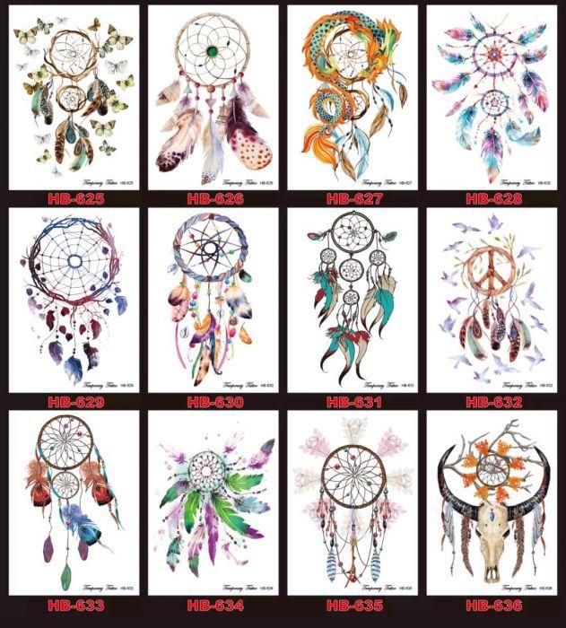 Tatuaje temporare dreamcatcher untold