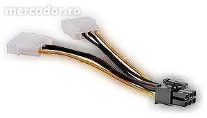 Cabluri Adaptor Alimentare Molex - PCI Express 6 Pini nou