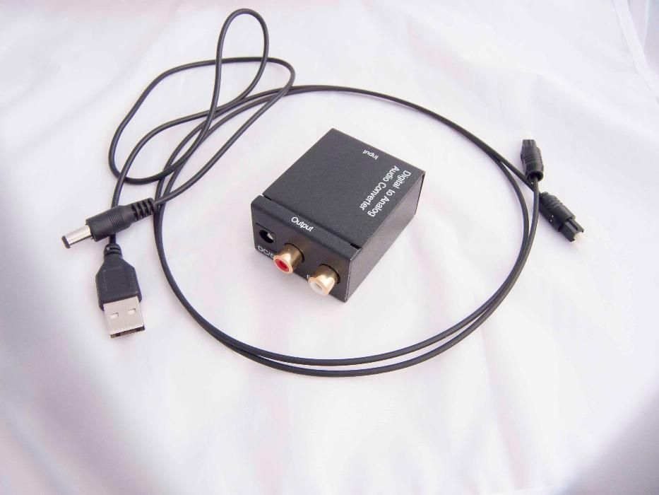 Оптичен конвертор цифров към аналогов RCA L/R аудио Toslink гр. Варна - image 2